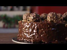 Πως να φτιάξετε Τούρτα Φερέρο (Πραλίνα) - Ferrero Rocher Cake - YouTube Nutella Mousse, Mousse Cake, Glaze For Cake, Chocolate Glaze, Chocolate Cakes, Savoury Cake, Greek Recipes, Cake Pans, Clean Eating Snacks