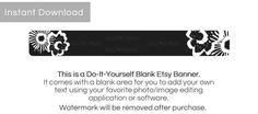 Etsy Shop Banner Background - Instant Download - Floral 13a