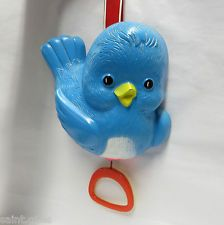 VINTAGE CLASSIC FISHER PRICE MUSICAL COT CRIB TOY - BLUE BIRD - 1968 - MUSIC BOX....oooohhh