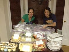 Gives shopping lists & easy directions! 40 Freezer Meals in 4 hours ($90) - Do with a friend!