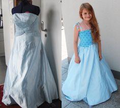 Prinzessinnenkleid nähen aus altem Abendkleid | Upcycling für Kinder | ChezNU.TV