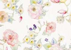 curtain material                                       Image of Watercolor Floral Fabric by the Yard