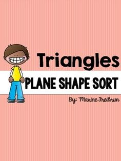 **Updated April 2015 with new fonts**After teaching a lesson on different types of triangles (isosceles, right, equilateral, scalene) have students complete this fun sorting activity. Students can work in groups or independently. It can be used to reinforce concepts, independent practice, or as a fun cooperative learning opportunity.