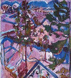 Albert Müller (1897-1926), Winter im Tessin, 1925. oil on canvas, 109 x 99 cm