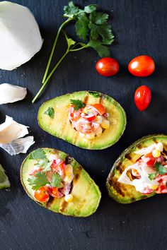 Grilled Stuffed Avocados are a healthy snack your taste buds will love!