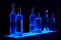The Armana productions 2 tier LED liquor shelf display is perfect choice for lounge, home, bar, restaurant or club. This 2 tier LED liquor shelf comes with high density LED strips which contain 18 RGB 3 chip LEDs per foot.