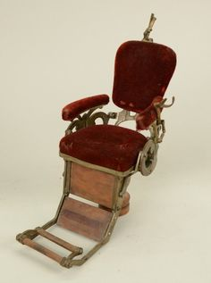PATENT MODEL OF A DENTAL CHAIR, signed Gould : L