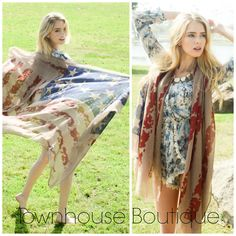 This american flag scarf is the perfect accessory for Memorial Day, 4th of July or Labor Day! Can be worn as a swimsuit wrap too!
