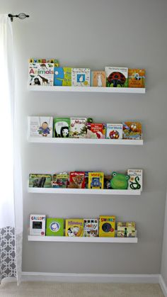 Our Pinteresting Family: Nursery Progress & Book Ledges