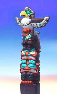 I imagine that this is how a totem pole really feels. #funny #illustration