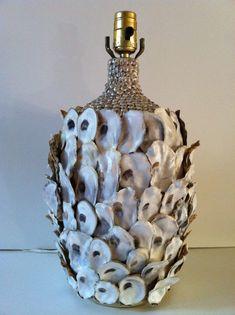make an oyster shell   lamp