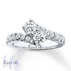 !2! This is my second choice rings! This is the dream! <3 The only thing better would be the 2 ct version if it could be found at a deep discount! Ever Us Two-Stone Ring 1 1/2 ct tw Diamonds 14K White Gold