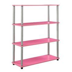 9f0f8d259b Convenience Concepts Designs2Go No Tools Bookcase Pink - 131466PK #affilink  #bookcase #bookshelf