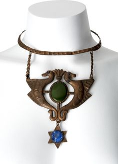 "Costume necklace worn by silent film star Theda Bara in 1917's ""Cleopatra."""