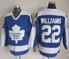 Maple Leafs Jersey 22 Tiger Williams Blue White CCM Throwback Stitched NHL  Jerseys 53cfc1885