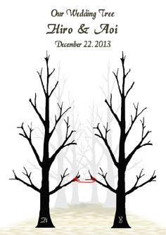 秋の結婚式に☆イチョウの木のウェディングツリー - 結婚式アイデア演出はゲスト参加型オリジナルアイテム通販店☆結婚証明書とウェディングツリーの『PaperDance』