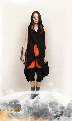 RDVB = dress, vest, blouse [rectangle].   RDVB = 3rd place winner @ Inspirare International Competiton. Vest, Blouse, Fall, Dresses, Design, Fashion, Fall Season, Vestidos, Moda