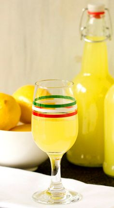 [Alcoholic Drink] ---- Limoncello Recipe:: 1 liter grain alcohol (Everclear)*,10 lemons, 5 c water, 4 c granulated sugar.
