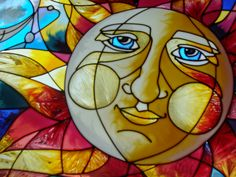 This stained glass sun catcher is an exquisite example of some of the special items we have found locally and on our travels where we've found special treasures that are local to specific areas.