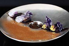 Gnocchis de vitelottes - crème anglaise au chocolat noir