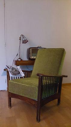 fauteuil Morris - création sur mesure de coussin en mousse bultex adapté à la morphologie du client. - tissu Casal