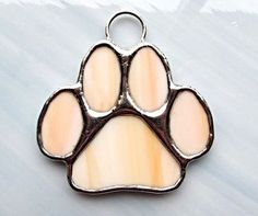 Paw Stained Glass Sun Catcher