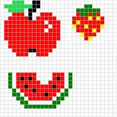 Apfel - Erdbeere - Wassermelone - Bügelperlen