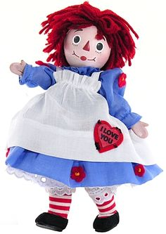 "8"" fully articulated I Love You Raggedy Ann Porcelain Doll - Madame Alexander"