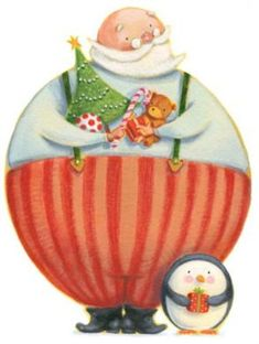 David Walker : Handmade Illustrations in Ink and Paint : Gallery : All Noel Christmas, Merry Little Christmas, Father Christmas, Christmas Pictures, Winter Christmas, Vintage Christmas, Christmas Crafts, Xmas, Illustration Noel