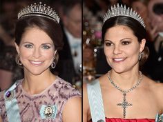 Swedish Royal Family at Nobel Prize Ceremony: Princess Madeleine & Crown Princess Victoria