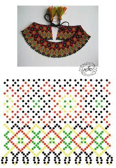 Natali Khovalko Bead Crochet Patterns, Beading Patterns Free, Beading Tutorials, Diy Necklace Patterns, Beaded Jewelry Patterns, Native Beadwork, Beaded Crafts, Beaded Collar, Bead Weaving