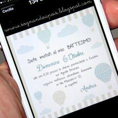 Battesimo inviti e decorazioni Wedding Party Invites, Wedding Stationery, Party Invitations, Baby Staff, Communion Invitations, Baby Party, Christening, Baby Room, Hand Lettering