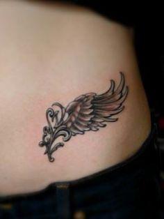 Tatuaggio ali di angelo