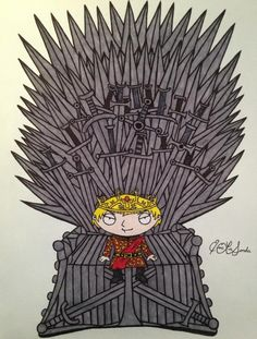 King Stewie Lannister:  #FamilyGuy characters as #GameofThrones characters ... He would fit in so well..