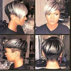 End of feb 2015 Pixie Hairstyles, Pixie Haircut, Pretty Hairstyles, Haircuts, Short Sassy Hair, Short Hair Cuts, Short Hair Styles, Bad Hair, Hair Day