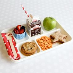 Experience the retro charm of school lunch trays without standing in the lunch line!