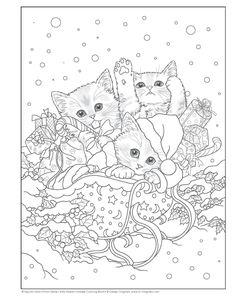 Santa's Kitty Helpers Holiday Coloring Book (Design Originals): Kayomi Harai: 0023863059121: Amazon.com: Books