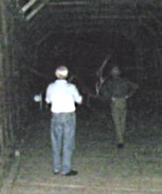 Sachs Bridge ghost photo taken at Gettysburg by Spirit Stalkers of Ohio. Yes, that is the ghost of a soldier on the right side of the picture. http://www.AngelsGhosts.com