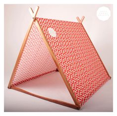 Red Geometric 'Wonder Tent' Organic Cotton Canvas by SGHstore