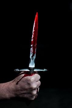 """I see thee still, and on thy blade and dudgeon gouts of blood, which was not so before.""(2.1.45-47) Just before Macbeth kills Duncan he sees the the dagger of the mind and sees blood drip from it. This dagger is seen from Macbeth's perspective."