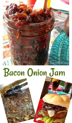 What goes better with an ice cold Coca-Cola than a burger? One topped with the best Bacon Onion Jam! The only burger topping you need! Bacon Jam Burger, Bacon Onion Jam, Burger Toppings, Onion Relish, Burger Recipes, Bacon Crack, Relish Recipes, Onion Recipes, Canning Recipes