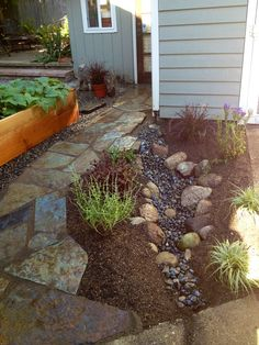 Rain gardens can be small- they still keep precious rainwater in your garden.