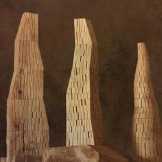 Some Michelle De Lucchi Wooden Towers in Experimental Work Design & Architecture forwarded by Model Art, Building Toys, Architecture Design, Tower, Miniatures, Concept, Sculpture, Random, Interior