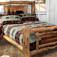 Black Bear Mountain Fleece Cabin Bedding
