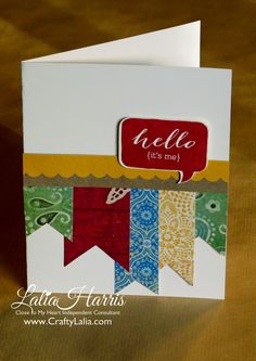 Crafty Lalia: April Stamp of the Month Blog Hop  {CTMH, Balloon Talk, Jubilee, banners}