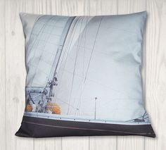 Nautical Pillow Cover - Sail and Sailboat Rigging - Coastal Decor - x Nautical Pillow Covers, Nautical Pillows, Dragon Tales, Joann Fabrics, Coastal Decor, Sailboat, Craft Stores, Pillow Inserts, Sailing