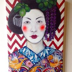 Take me to Tokyo - acrylics on canvas, 30x40cm, 2015, by Wesna Wilson