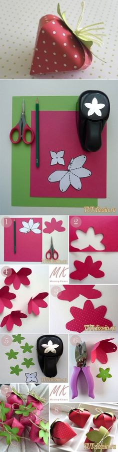 DIY Strawberry Shaped Box | www.FabArtDIY.com LIKE Us on Facebook ==> https://www.facebook.com/FabArtDIY
