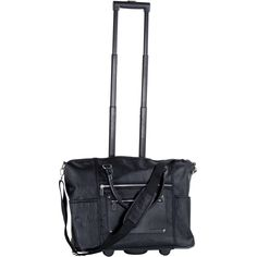 This CalPak Zanny tote bag features a bold black color in a subtle grain pattern. With a convenient carry-on friendly size, the bag is easily portable with easy-grab leather handles and inline skate ball bearing wheels with a retractable handle system. Rolling Briefcase, Laptop Tote Bag, Best Laptops, Leather Handle, Luggage Bags, Grains, 21st, My Style, Best Deals
