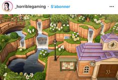 Animal Crossing Cafe, Animal Crossing Qr Codes Clothes, Ac New Leaf, Motifs Animal, Island Design, National Parks, Layout, Exterior, Instagram
